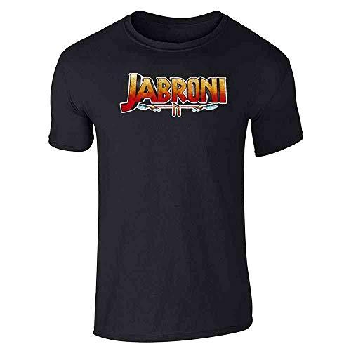 Pop Threads Jabroni Funny Movie Logo Parody Black L Graphic Tee T-Shirt for Men