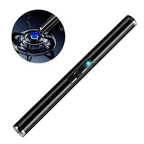 Sunneey Lichtbogen Feuerzeug, Grillfeuerzeug, Stabfeuerzeug, BBQ, elektronisch wiederaufladbar, aufladbar mit Strom per USB, ohne Gas und Benzin, mit Ladekabel, in edler Geschenkverpackung