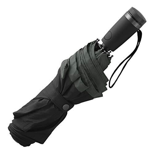HUGO BOSS Taschenschirm GEAR black - Ultraleichter und extra robuster Regenschirm mit Rostschutz und Anti-Aging