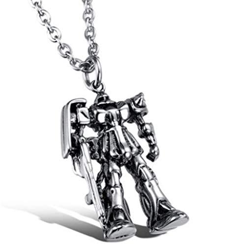 HAOYU Personalidad Colgante Retro Collar de Acero de Titanio