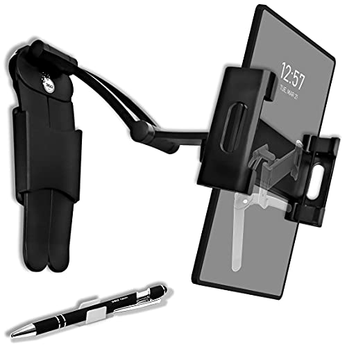 360 tech - Soporte para tablet y teléfono móvil ajustable universal 2 en 1 de mesa o pared/soporte para smartphone de aluminio accesorios para Samsung, iPad Air 12,9, iPhone 11-12, Huawei