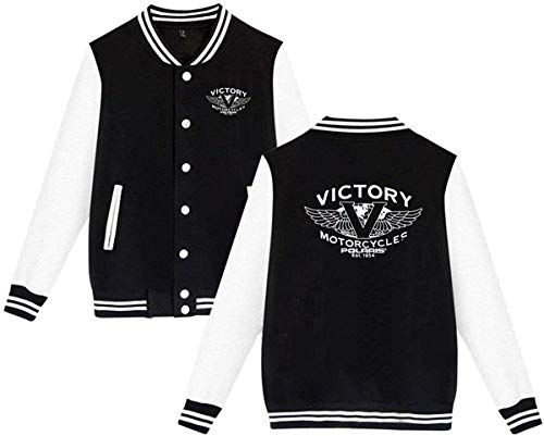 Unisex Men & Womens Casual Style Print Design Victory Motorcycles Polaris Hoodie Baseball Uniform Jacket Sport Coat XL