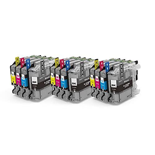 Alaskaprint 12x Druckerpatronen kompatibel mit Brother LC223 LC-223 XL LC223XL LC-223XL MFC-J5320DW MFC-J480DW MFC-J4420DW DCP-J4120DW DCP-J562DW MFC-J4620DW J880DW J5620DW J4625DW J5625DW J680DW