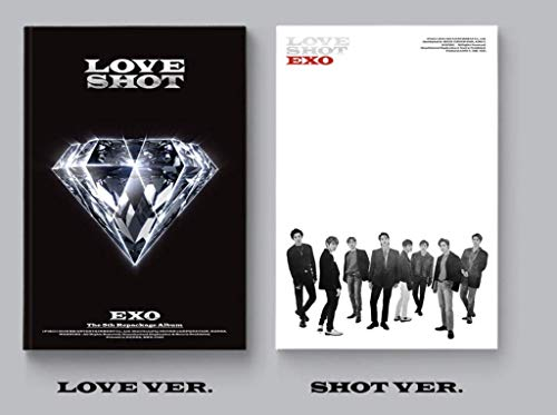 Exo - [Love Shot 5th Repackage 2 Ver Set CD+1p Poster+72p Booklet+1p PhotoCard+Extra PhotoCard Set+Tracking K-Pop Sealed