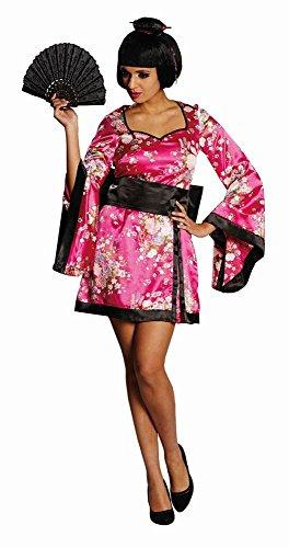 4U-Onlinehandel 13925-34 Geisha Gr. 34 Karneval Fasching Mottoparty Frauenkostüm Verkleidung Kimono, Pink