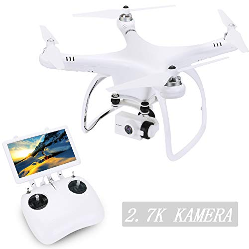 UPair One Quadrocopter Drohne mit 2.7K Full-HD Videokamera 2.4G Fernsteuerung FPV live übertragung,Headless Modus,Höhenhaltung,Home Return