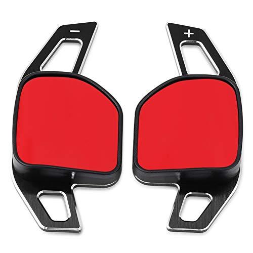 Volante per Auto Volante per auto DSG Paddle Paddle Shifters Shift Sticker Decorazione adatta per Audi A3 S3 A4 S4 B8 A5 S5 A6 S6 A8 R8 Q5 Q7 RS6 A1 Auto Accessori (Color : BLACK)