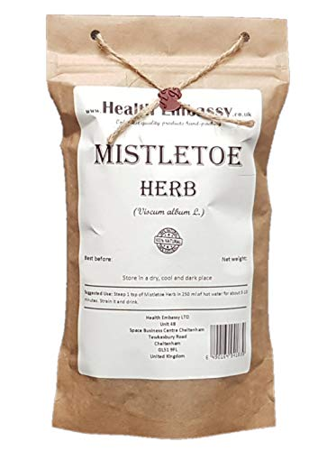 Muérdago Blanco Hierba (Viscum album L.) / Mistletoe Herb - Health Embassy - 100% Natural (100g)
