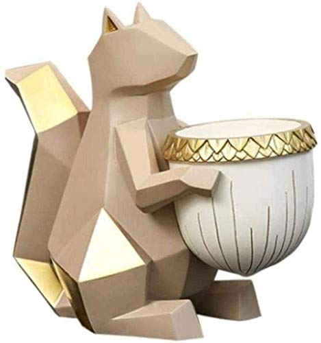 YsKYCA Estatua Escultura Decoración,Regalo Artesanal De Figuras Coleccionables Escritorio Craft Ardilla Caja De Almacenamiento De Llaves Muebles para El Hogar Mesa De Centro Zapatero