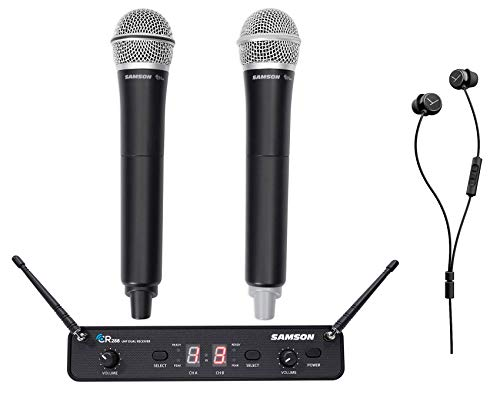 Cheap Samson Concert 288 Handheld Dual Wireless Microphone System+Beyerdynamic Earbuds