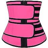 FGDJTYYJ Efecto de Sauna para Mujeres - Cinturón de Cintura Adelgazante Banda para El Vientre Faja Deportiva para El Sudor Cinturón Moldeador (Color : Pink, Size : S)