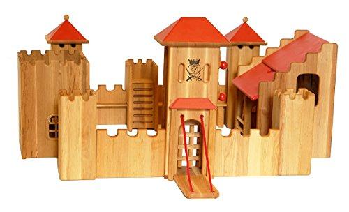 Erst-Holz 931-180 Schloß mittelgroß Ritterburg von Drewart ökologisches Holzspielzeug Kastell, Burg
