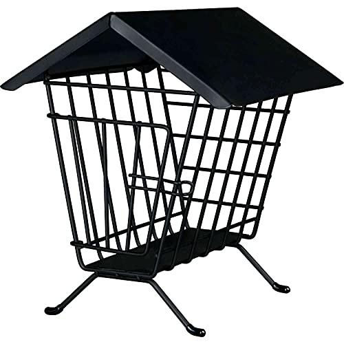 Trixie 60909 Heuraufe zum Aufstellen mit Dach, 20 × 23 × 20 cm, schwarz