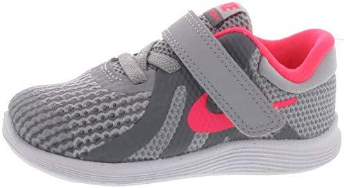 Nike Girl's Revolution 4 (TDV) Running Shoe, Wolf Grey/Racer Pink-Cool Grey-White, 10C Toddler US Toddler