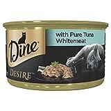 DINE Desire Pure Tuna Whitemeat Wet Cat Food 24 x 85g pack