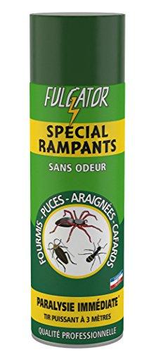 FULGATOR - Insecticide SPÉCIAL RAMPANTS - Action rapide et puissante contre les insectes rampants : araignées, cafards, fourmis, puces - Tir puissant - Sans odeur - Fabriqué en France - 500mL
