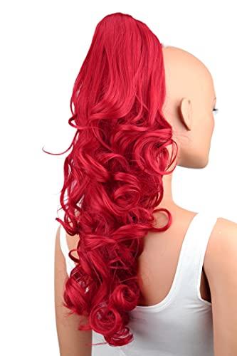 PRETTYSHOP 50cm Haarteil Zopf Pferdeschwanz Haarverlängerung Voluminös Gewellt Intensivrot H101