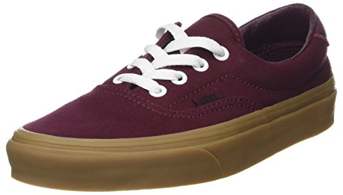 Vans Unisex-Erwachsene Era 59 Sneaker, Rot (Canvas Gum/Port Royale/Light Gum), 40.5 EU
