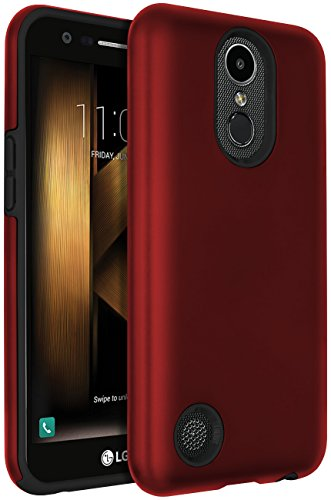 SENON LG Harmony Case,LG K20 V Case,LG K20 Plus Case,LG V5 Case,LG K10 2017 Case, Hybrid Dual Layer Shock-Absorption Protective Cover Shell Red