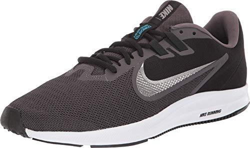 NIKE Men's Nike Downshifter 9 Shoe, thunder grey/metallic pewter - Black, 7 Regular US
