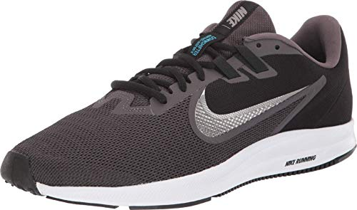 Nike Downshifter 9, Zapatillas de Running Hombre, Gris (Thunder Grey/Mtlc Pewter/Black/Lt Current Blue/White 008), 40.5 EU