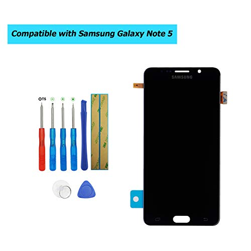 E-YIIVIIL Super AMOLED Replacement Screen Compatible with Samsung Galaxy Note 5 N9200 N920 Super AMOLED Display Assembly Touch Screen with Toolkit (Blue)