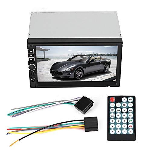 Coche MP5-Auto Coche MP5 Radio Audio Reproductor estéreo Pantalla de 7 pulgadas 2-Din Bluetooth FM HD Monitor de marcha atrás