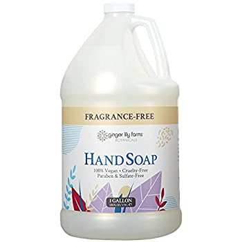 Ginger Lily Farms Botanicals All-Purpose Liquid Hand Soap Refill Fragrance Free 100% Vegan & Cruelty-Free 1 Gallon Unscented 128 Fl.Oz