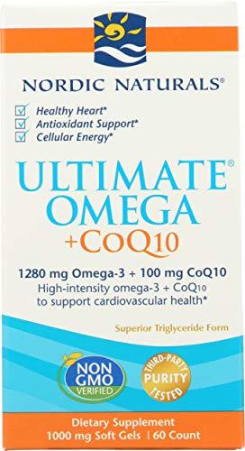 Nordic Naturals Ultimate Omega + Coq10, 1280Mg - 60 Cápsulas Blandas 60 Unidades 140 g