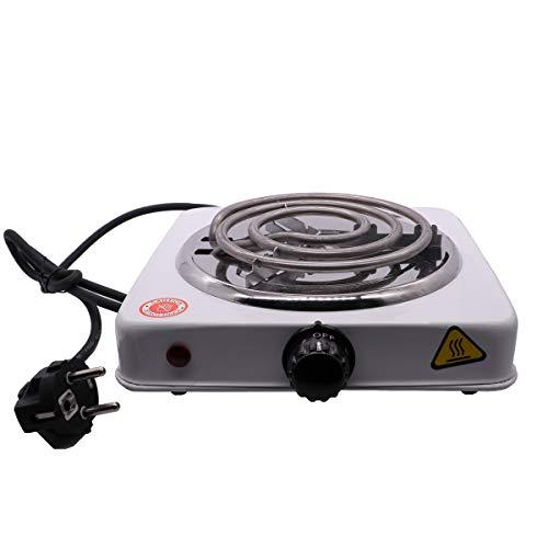 VINP Shisha Elektrischer Kohleanzünder 1000W Kohlebrenner Kochplatte für Wasserpfeife Barbecue Kohle (Weiss)