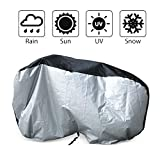 LotFancy Bike Cover for 2 Bikes, Waterproof Outdoor Bicycle Cover, Heavy Duty Ripstop Material Rain UV Snow Dust Wind Proof for Mountain Electric Exercise Sport Bike City Bike