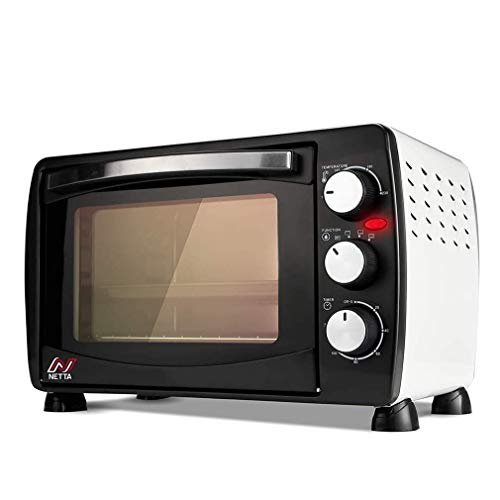 SONGYU Mini eléctrico de 26 l con múltiples Funciones de cocción y Parrilla, con lámpara, Temporizador de Control de Temperatura Ajustable, 1500 W