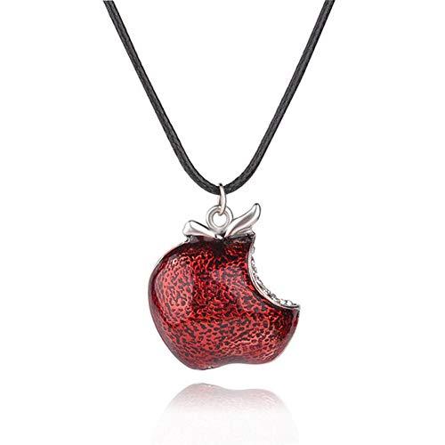 XLHJK Joyería Colgantes Collares Colgante For Red Poison Apple Colgantes Collar Once...
