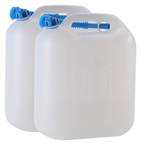 Hergestellt für BAUPROFI 2X Wasserkanister ECO 20 Liter mit Rohr 2er Set Camping-Kanister Wassertank