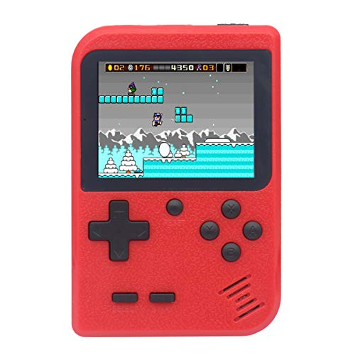 Fiotasy Retro Games Console with 400 8-bit Classic FC NES Games, 2.8 Inch Gameboy, Rechargeable, TV Video Output, Christmas Birthday Gift/Present for Kids Boy Girl Men Women