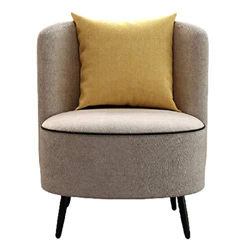 DYecHenG Sillón Butaca Silla de salón Exclusiva nórdica Silla de sofá pequeño Simple de Tela Moderna Silla de Ocio para Cafetería Comedor (Color : Multi-Colored, Size : 62x63x78cm)