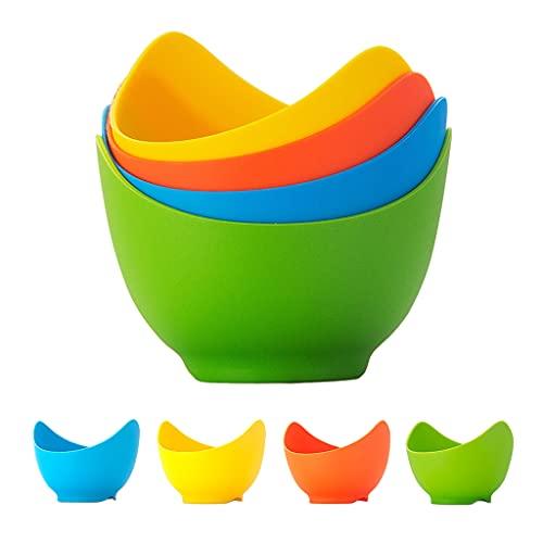 LOVIVER 4X moldes de Silicona para Huevos, Tazas de furtiva para Huevos, Cuenco para Cocina, Utensilios de Cocina, Utensilios para Hornear
