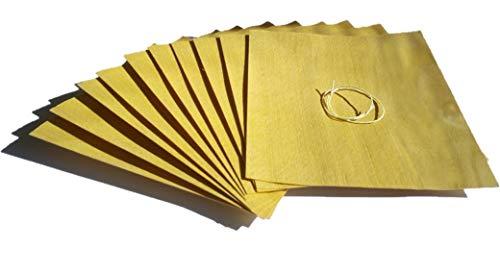 Masterpiece - BBQ Grillpapier Buche Set à 10 STK. Wood Wraps Grillfurnier in Premium Qualität Räucherfurnier Maße: 190 x 170 mm Grillwraps Wood Paper aus Buche