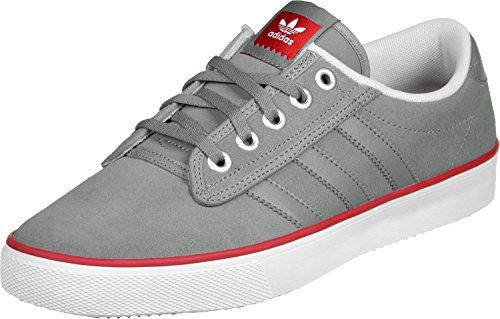 adidas Kiel, Chaussures de Basketball Homme, Gris/Rouge/Blanc (Grpuch Escarl Ftwbla), 42 2/3 EU