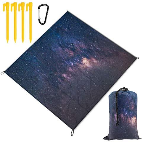 Manta de Picnic,Vista panorámica del mundo Constelación Universo Espacio Toma de la estrella lechosa Naturaleza Campo estelar Ciencia al aire libre,Mantas de playa al aire libre Estera para acampada