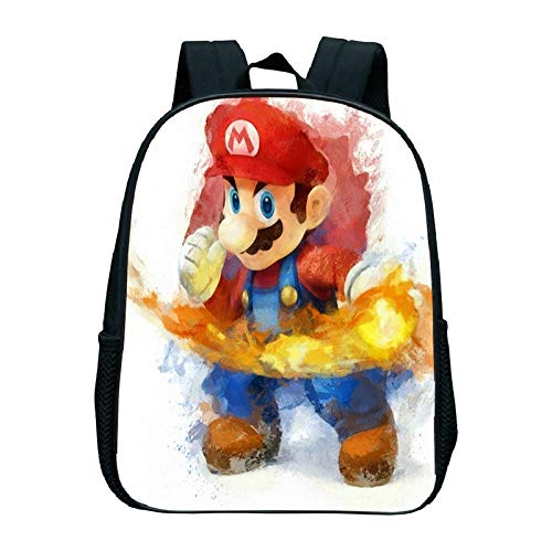 Mario Cartoon Schoolbag Super Mario Kindergarten Bag Anime Backpack Children Kindergarten Backpack Book Bags Fashion Rucksack Super Mario Backpack