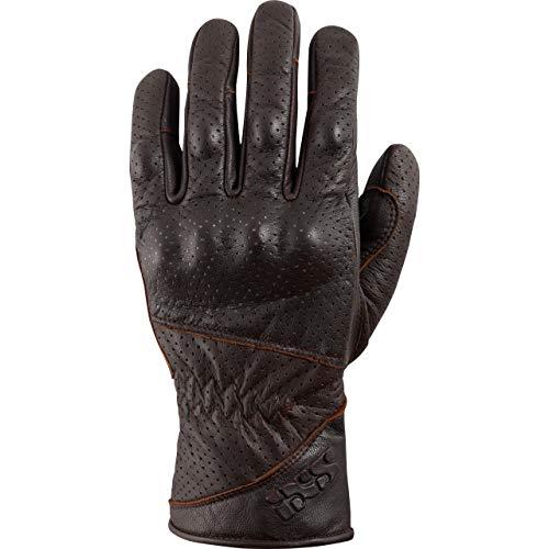 IXS Motorradhandschuhe lang Motorrad Handschuh X-Handschuhe Belfast braun L, Herren, Tourer, Ganzjährig, Leder