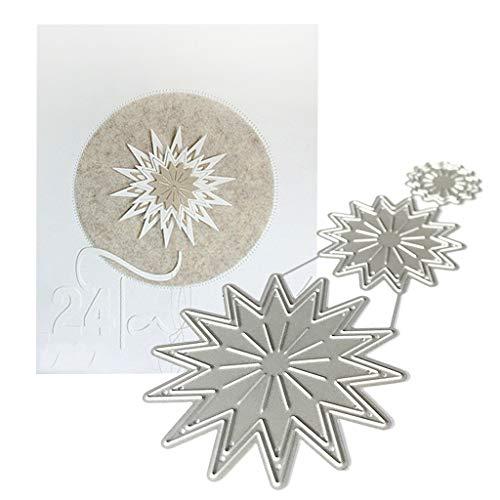 Qintaiourty Stanzschablone, Weihnachten Sun Lace Metall Stanzformen Schablone Scrapbooking DIY Album Stempel Papierprägung Dekor
