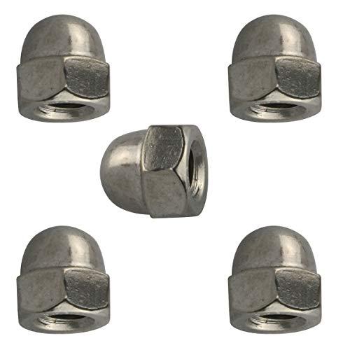 E-outstanding - Tuercas hexagonales para tornillos (304 hexagonales de bellota, 30 unidades, acero inoxidable, hexagonal, para tornillos