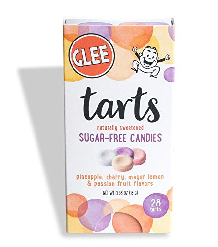 Glee Tarts, Sugar Free Candies, Zero Calories, Vegan, Gluten Free, Kosher, Box of 28 Pieces