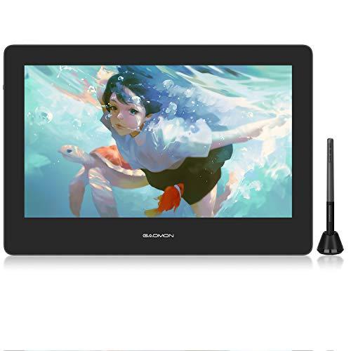 GAOMON PD1320-13 Zoll(Diagonale) HD IPS Monitor mit 8192 Druckstufen u. batterielosem AP50 Stift mit Neigungserkennung, kompatibel mit Windows, MAC und Android
