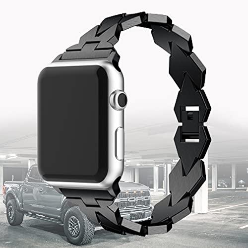 Compatible con Apple Watch Strap Pulsera de Acero Inoxidable Beautiful Women Girl Band Compatible con iWatch Series SE 6 5 4 3 2 1,38mm/40mm