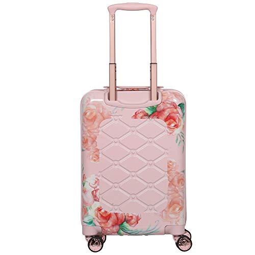 Aerolite Premium Hard Shell 4 Wheel Cabin Luggage Suitcase, Rose Blush