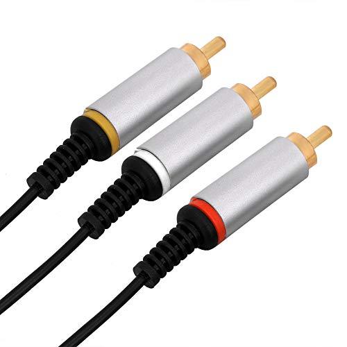 Mxzzand Konsolenzubehör AV-Kabel Optimiertes hochwertiges Audio-Video-Kabel AUX-Kabel TV oder Tablets Lautsprecher Heimkino Kompatibel mit PSP1000 2000 3000