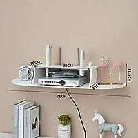 フローティングシェルフ壁掛け式TVキャビネット/Wifiルーターラック/ストレージラックCD/DVDプレーヤー/プロジェクト